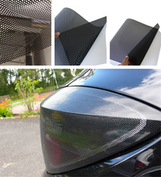 """SUNICE czarny perforowany winyl Film one way vision taśma ograniczająca widoczność monitora Wrap Car/Home Window Film 48 """"x 11.8"""" (122cm x 30 cm) naklejki naklejki w Naklejki samochodowe od Samochody i motocykle na"""