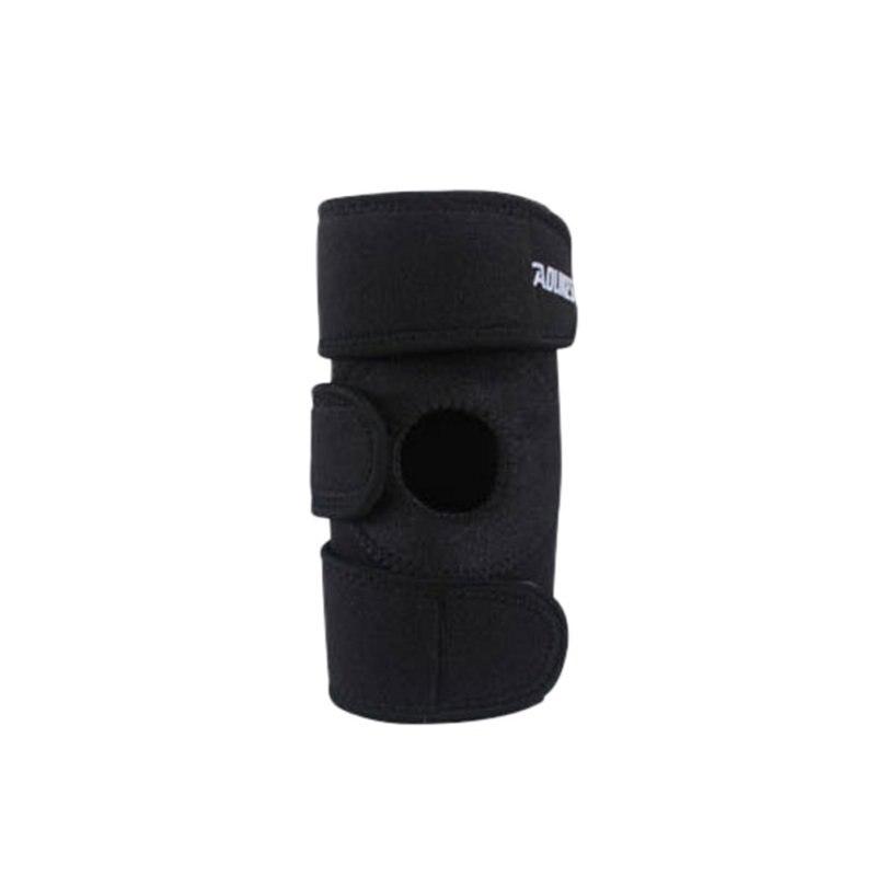 Эластичный Фиксатор наколенник Регулируемый наколенник наколенники коленный фиксатор защитный ремень для баскетбола свободный размер 1 ш...