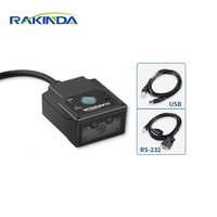 Rakinda LV3000U Industrial 2D Fixed Mount Barcode Scanner/Passport OCR MRZ Reader Module for Kiosk and Self service Terminal