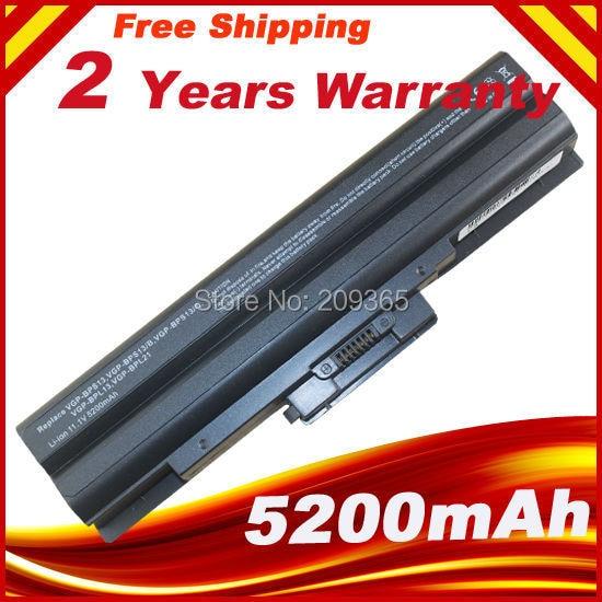 11.1V 5200MAH 6cell Brand Laptop Battery VGP-BPS13 for Sony Vaio VGP-BPS13 VGP-BPS13A VGP-BPS13/S VGP-BPS13B/S VGN-FW SZ