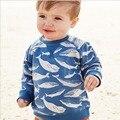 2017 Boy Tees Camiseta de Sprint y Otoño Cute baby boy Camiseta