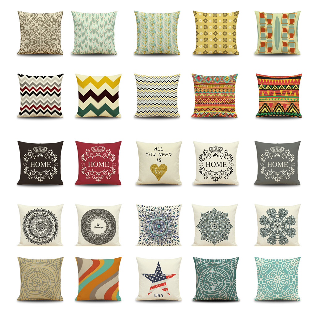 Maiyubo maiyubo scandinavian letter cushion cover - Plaid para sofa ...