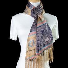 Шелковый шарф, женский шарф, длинный шелковый шарф с цветком, двухслойная шелковая накидка, Женская шаль, популярный роскошный подарок для леди