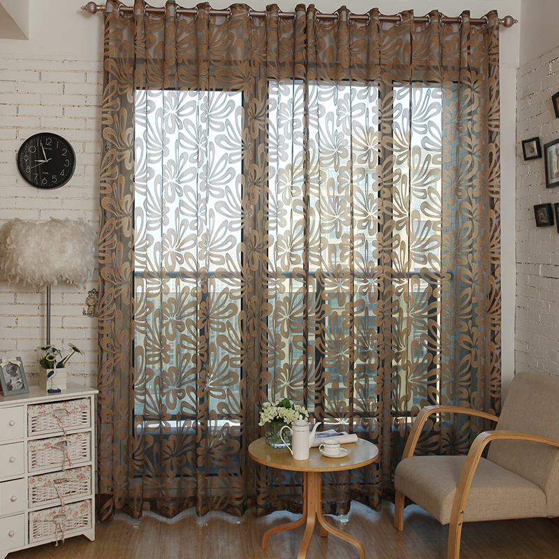Blinds For Living Room With Curtains Modern Rustic Topfinel Luxury Shade Geometric Tulle Windows Sheer Bedroom Kitchen Voile Curtain Fabric In From Home Garden