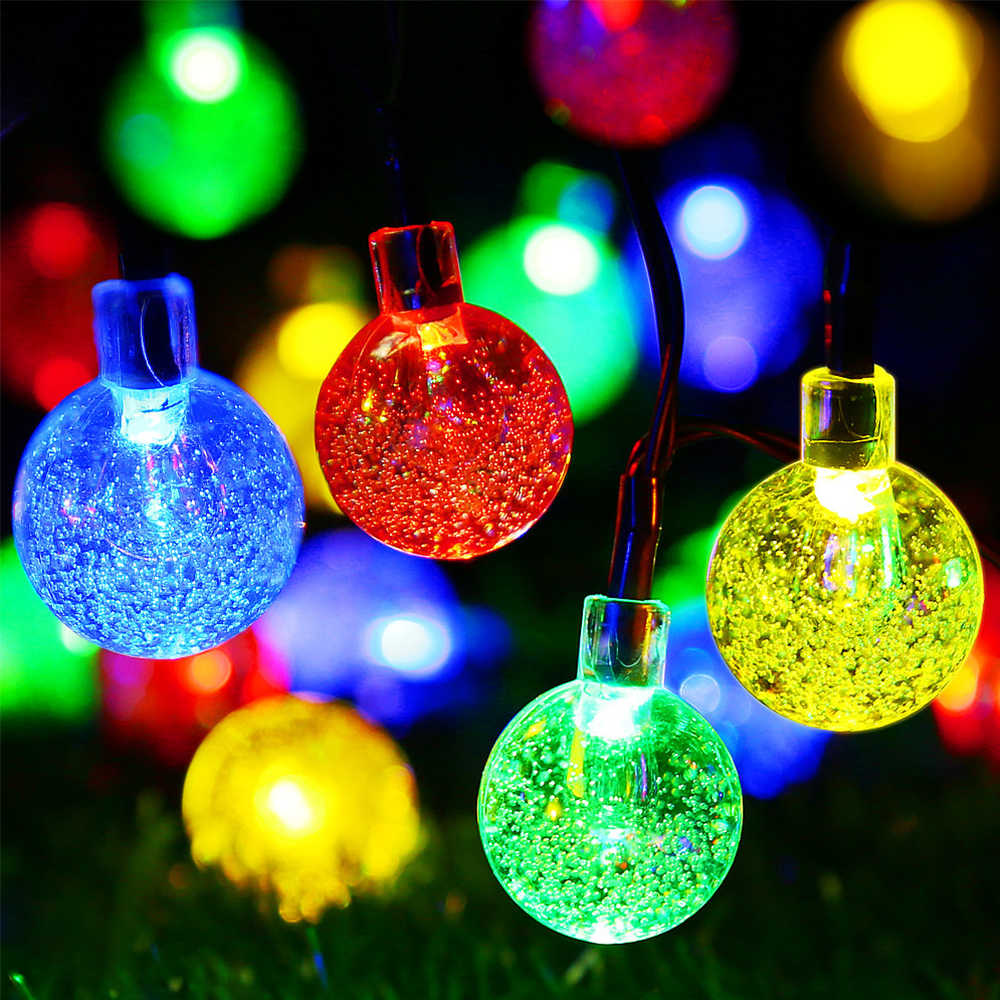 Solar Led Christmas Lights.Solar Led Christmas String Lights 30 Leds 6m 50 Leds 7m 8 Modes Dimmable Wedding New Year Xmas Outdoor Lawn Decoration 3 Types