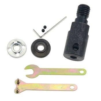 1 juego M10 5/8/10/12mm adaptador de husillo de perforación molienda varilla de pulido Motor Banco amoladora Sierra adaptador de hoja de conexión