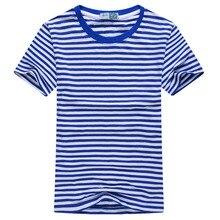 Горячая Распродажа, новая летняя модная мужская полосатая футболка с коротким рукавом, повседневные мужские матросские топы с круглым вырезом, темно-синяя футболка