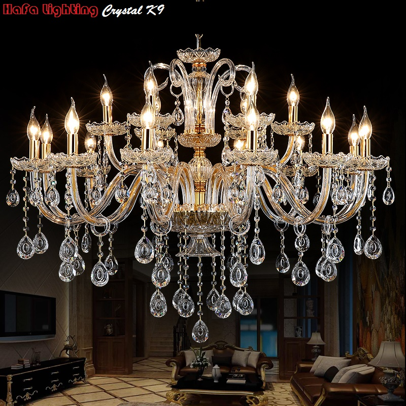 Modern Crystal Chandeliers Home Lighting lustres de cristal Decoration Luxury Candle Chandelier Pendants Living Room Indoor Lamp modern new k9 modern crystal lustres de cristal decoration chandeliers and pendants silver gold 6 8 15 18 arms for living room