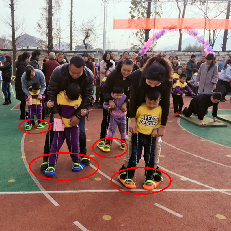 Outdoor Team Cooperation Board Shoes, Synchronous Game Shoes for kids and parents, Kindergarten Training Equipments