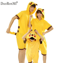 2017 Summer Family Matching Clothes Unisex Adults Kid Short Sleeve Cotton Anime Onesie Halloween Pijamas Cosplay Panda Sleepwear