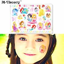 M-theory Princess Temporary Makeup Tattoos Sticker Toy Henna Tatuagem Body Art Tatto Flash Tatoos Sticker Toys Decoration Decals