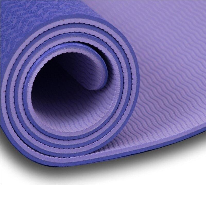 6 мм TPE Нескользящие коврики для йоги для фитнеса безвкусный Пилатес коврик для тренажерного зала Коврик для упражнений для окружающей сред...