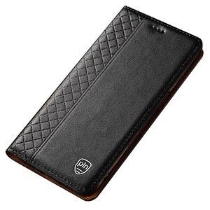 Image 2 - Huawei Mate 20 X przypadku, przerzuć futerał z prawdziwej skóry miękkiego silikonu tylna pokrywa dla Huawei Mate 20X Coque