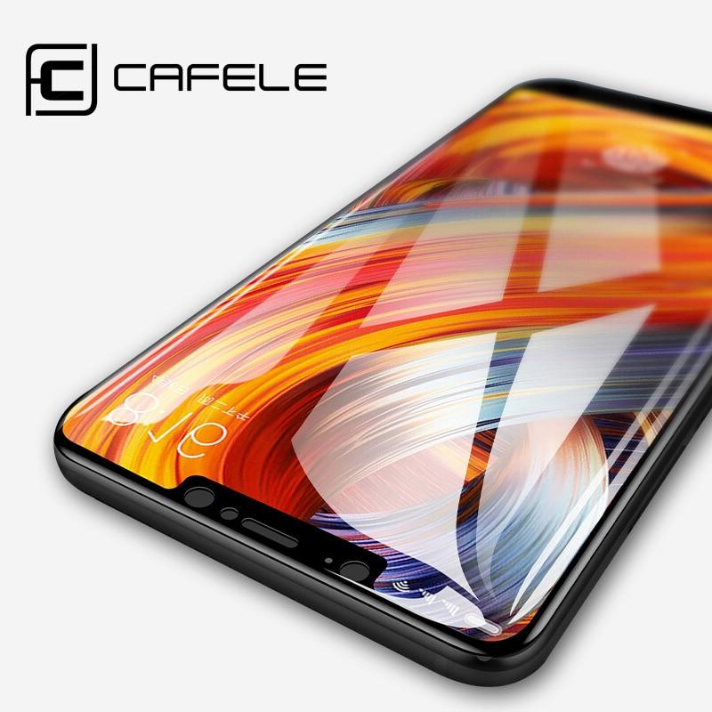 CAFELE Gehärtetes Glas für Xiaomi MI 6 8 9 se 5s A1 9t pro Mix 2 Displayschutzfolie für Redmi Note 7 8 K20 pro Schutzglas