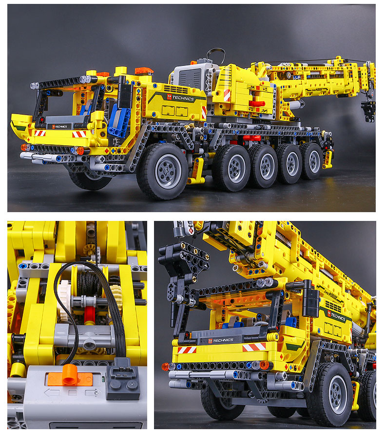DHL 20004 Technic Motor Power Mobile Crane Mk II Model Building Kits Blocks Bricks Birthday Compatible with Legoings 42009 Toys 21
