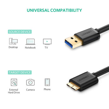 USB 3.0 A Male to Micro B Cable 2
