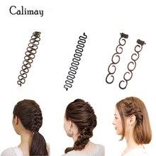3 styles/lot Magic Hair Clip Braider Stylist Queue Twist Plait Hair