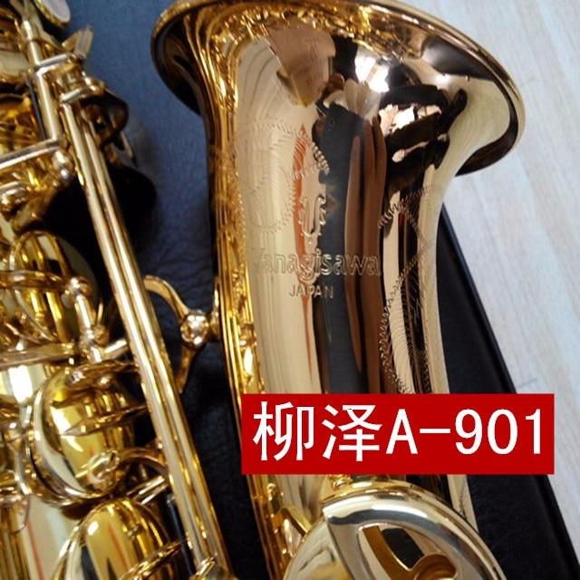 цена на High Quality New Arrival YANAGISAWA A-901 Alto Brass Saxophone Eb Tone Gold Lacquer Sax E-flat Tone With Mouthpiece, Case, Glove