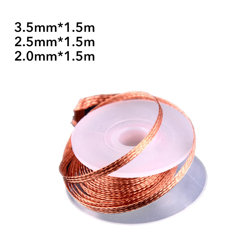 2.0mm 2.5mm 3.5mm Length 1.5M Width Desoldering Braid Welding Solder Remover  Wire Lead Cord Flux  Repair Tool