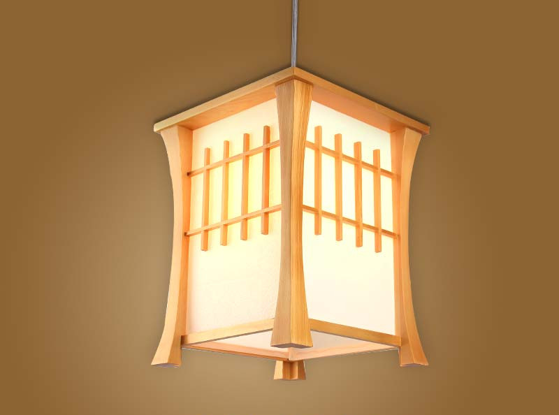 Japanese Pendant Light Washitsu Tatami Decor Pendant Lamp Restaurant Living Room Hallway Bedroom Indoor Lighting Home Design japanese ceiling lights mahogany finish shoji lamp wood paper washitsu tatami decor living room indoor lantern lamp lighting