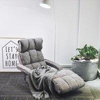 Роскошные пол складной шезлонг стул современная мода Гостиная комфорт кушетка ленивый лежащего Мягкая диван кровать