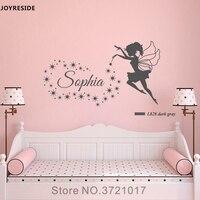 JOYRESIDE Фея звезды Наклейка на стену винил стикеры индивидуальный заказ имя детская обувь для девочек маленьких детей спальня украшения XY060