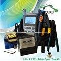 10 em 1 Kit de fibra óptica FTTH ferramenta com FC-6S Fiber Cleaver e Optical Power Meter 10 Mw localizador Visual de falhas