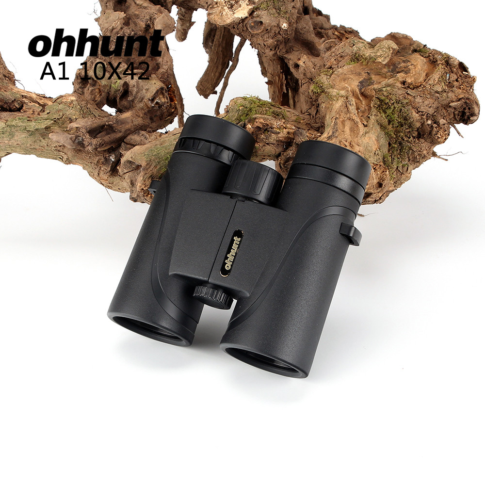 10x42 Camping Hunting Scopes tool Ohhunt Binoculars with Neck Strap Carry Bag Free Shipping Telescopes Prism Optics Binoculars zokol bearing 22220ca w33 spherical roller bearing 3520hk self aligning roller bearing 100 180 46mm