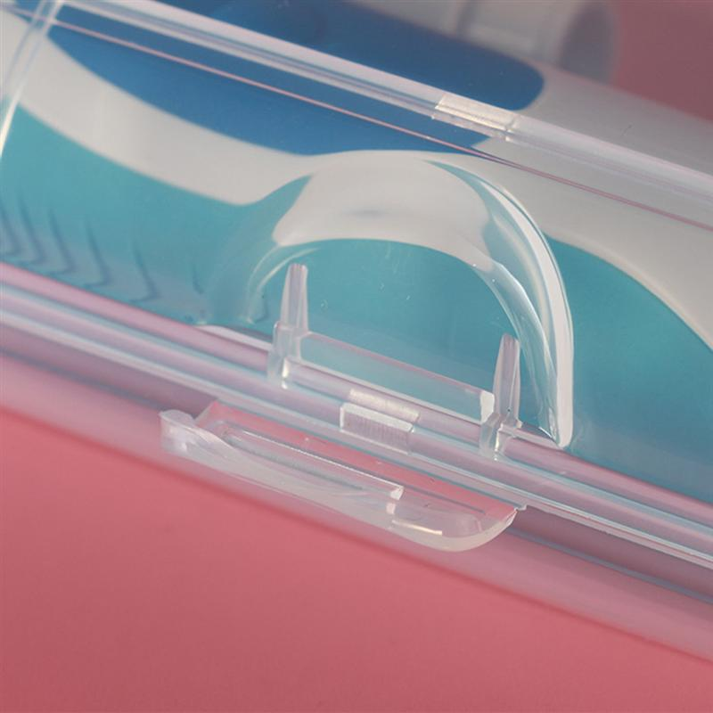 Portable Toothbrush Plastic Travel Case Toothbrush Heads Holder Cover for Oral-B Electric Toothbrush (Transparent) D30