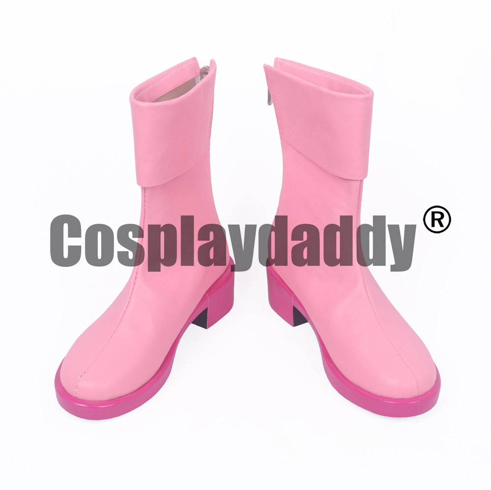 One Piece Captain Tashigi Marine Vice Admiral After Timeskip Ver. Cosplay Pink Shoes Boots S008