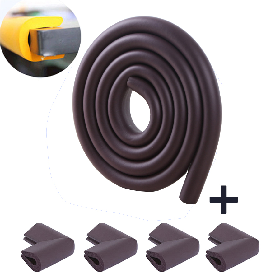 2M U Shape Kids Safety Edge Guard Strip + 4PCS U Shape Child Safety Corner Protector For Glass Table Infant Home Safety Protect