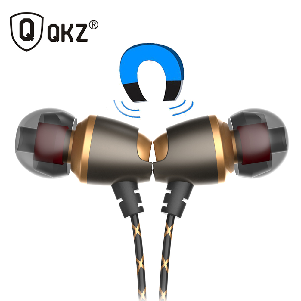 Earphone QKZ DM11 Magnetic Stereo BASS Metal in-Ear Earphone DJ In Ear Earphones HiFi Ear Phone Noise Cancelling Headset