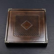 лучшая цена Kung Fu tea set accessories solid wood tea tray drawer tea table square simple Household water storage tea tray