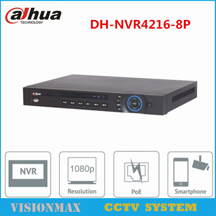 Dahua 16CH 8POE NVR NVR4216 8P Onvif Network video recorder 1U 1 HDMI Two Way Talk