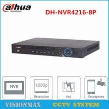 Dahua 16CH 8POE NVR NVR4216-8P Onvif Network video recorder 1U 1 HDMI Two Way Talk HD 5MP VGA for HDD CCTV English Version