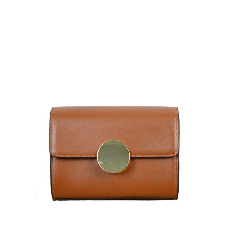 New 2017 Brand Design Women Simple Flap Messenger Bags Split Leather Handbags Retro Crossbody Bag For Female bolsas an570
