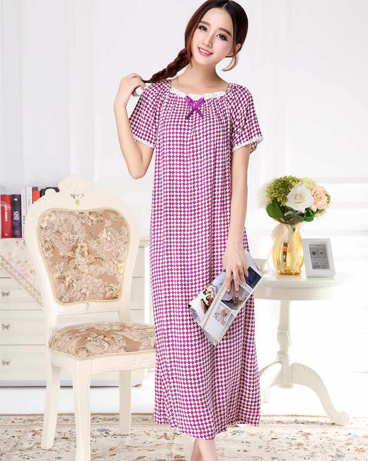 2018 Брендовые женские пижамы для сна, свободные хлопковые ночные рубашки, сексуальное длинное домашнее платье, летняя ночная рубашка, большие размеры