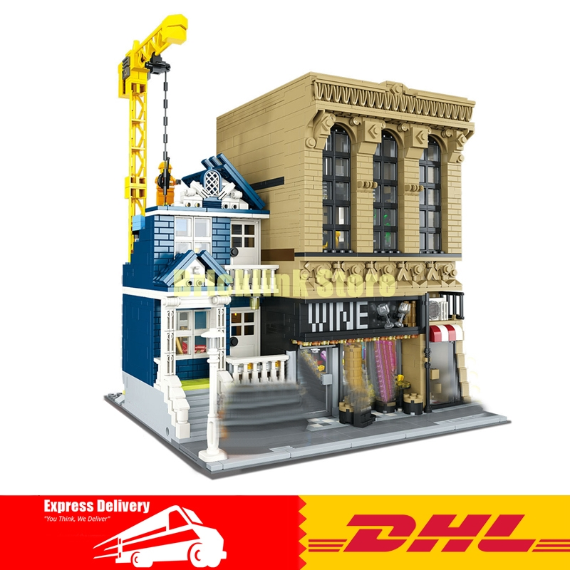 IN Stock LEPIN 15035 2841Pcs Creative MOC The Bars and Financial Companies Set Children Educational Building Blocks Bricks Toys in stock lepin 15035 2841pcs creative moc the bars and financial companies set children educational building blocks bricks toys