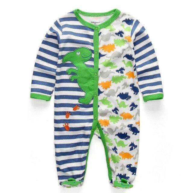 Для маленьких девочек сна; одежда для сна с мультяшным рисунком для малышей Детские пижамы хлопок Длинные рукава Детские пижамы с надписью «i love daddy» детские комбинезоны с рисунками - Цвет: baby green