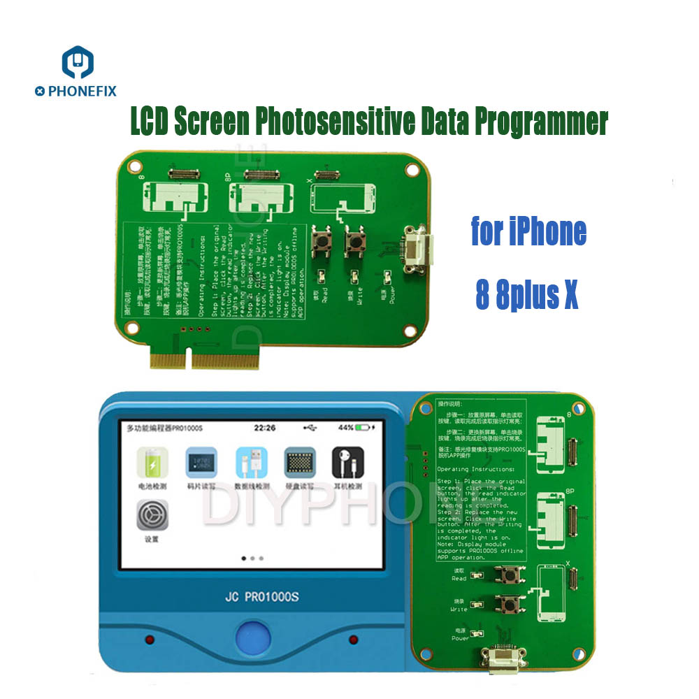 Image 3 - JC Pro1000s LCD Screen Photosensitive Data Programmer Phone Photoreceptor Repair Read Rewrite Backup Tool for iPhone 8 8plus X-in Hand Tool Sets from Tools