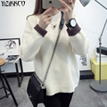 2016 Winter Women Sweater New Fashion Computer Knitted Pullovers High Quality Solid Sweaters O-Neck Pull Femme Jumpers SZQ035