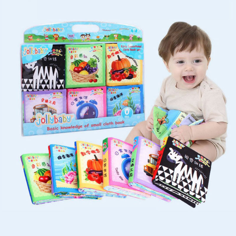 Rapture 11cm 6pcs/set Baby Cute Cartoon Cloth Book Girls Boys Kids Early Education Visual Training Development Toys Mobile Phone Straps Agreeable Sweetness Mobile Phone Accessories Cellphones & Telecommunications