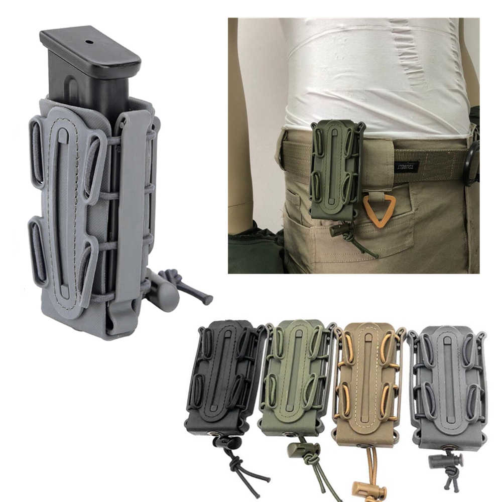 Tactical Magazine Pouch 9mm Molle Pistol Mag Military Soft Shell Mag Pouch with Belt Clip Magazine Holster Fastmag molle pouch