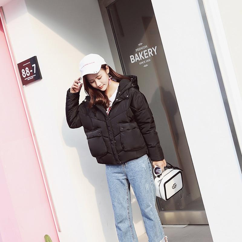 Capuche D'hiver pink Survêtement yellow À Court Femmes gray Grande Veste 2018 Coton Manteau Chaud Tq016 Lâche De Black Nouvelles Poche qxwERnC8U