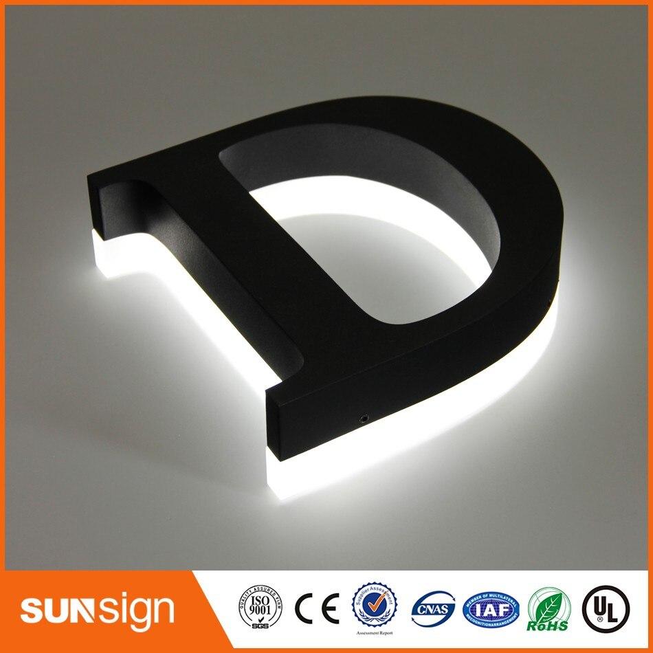 Наружной рекламы с подсветкой 3D металлический знак, буквы заказной знаком со светодиодной подсветкой