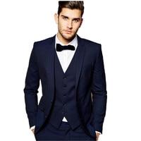 new made men suits handsome Groom Tuxedos formal Occasion business leisure suits custom(jacket+pants+vest+tie+handkerchief)