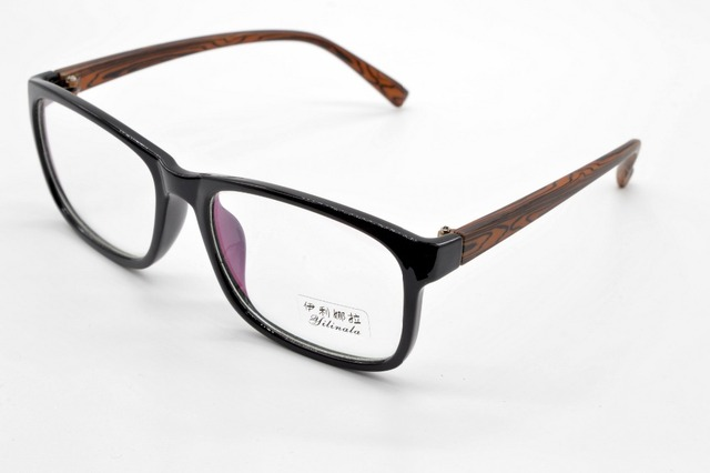 Full-rim preto quadro personalizado de madeira de cor grandes óculos de armação miopia e óculos de leitura + 1 + 1.5 + 2 + 2.5 + 3TO 6