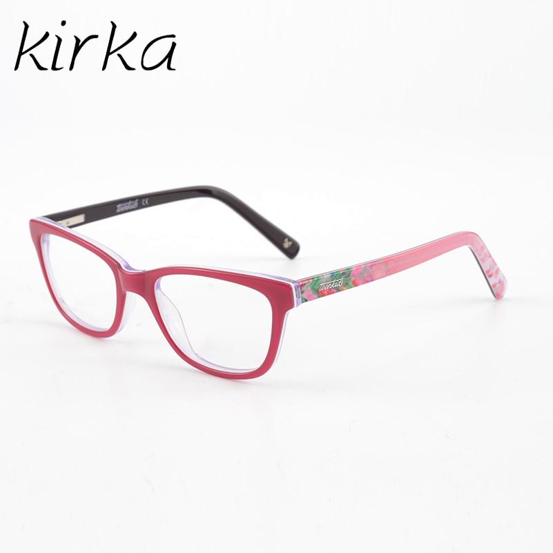 Meisjes roze acetaat brillen Brilmontuur Kinderen bijziendheid - Kledingaccessoires