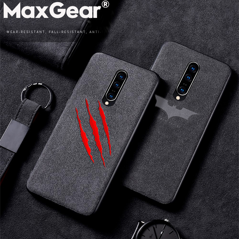Phone-Case Funda Back-Covers Shockproof Suede Batman Soft-Silicone Oneplus 5 Luxury Matte