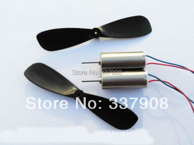 2pair/lot 7*16 MM High Magnetic Coreless Motor 4.2V/55000RPM + Propellers For Remote Control Aircraft/quadcopters Tail Motor